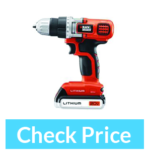 BLACK+DECKER LDX120C 20-Volt MAX Lithium-Ion – Best Affordable(Cheap) Cordless Drill